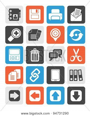Silhouette internet Interface Icons