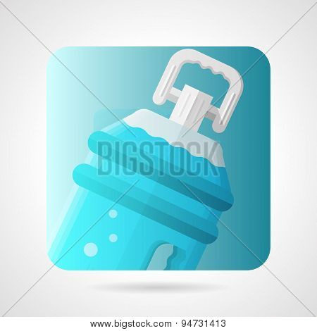 Flat stylish vector icon for bottled water