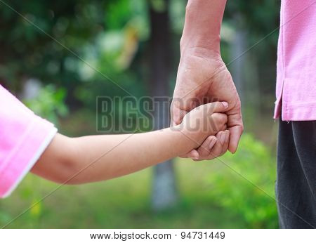 Father Hold Child Hand