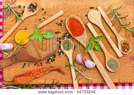 Fresh and dried spices - seasoning