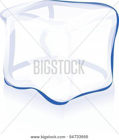 Ice Cube Icon Vector Symbol Illustration