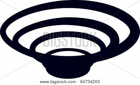 Tornado Spiral Vector Symbol Icon Of Hurricane