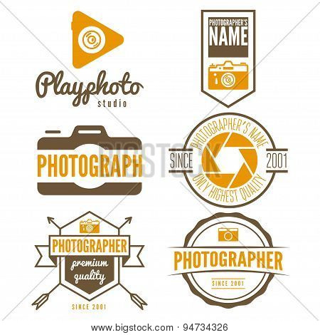 Set of logo and design elements for studio or  photographer