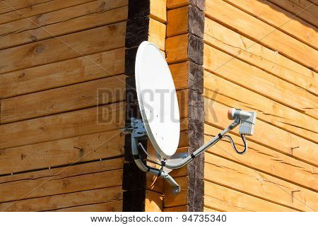 Satellite Antenna On The Wall