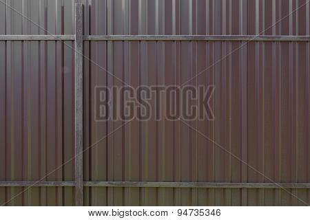 Metal Fence Brown Big