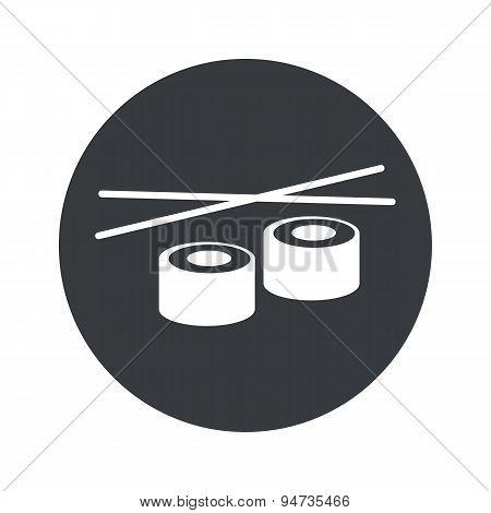 Monochrome round sushi icon