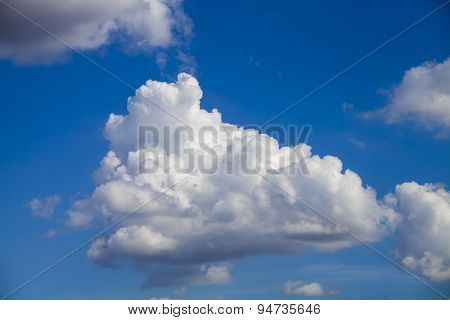 Blue Sky And Clouds In Summer Season