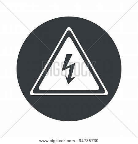 Monochrome round high voltage icon