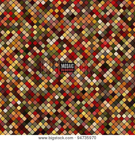 Abstract Mosaic Background Of Pixel Pattern Grid Colored Squares. Vector Illustration Eps10