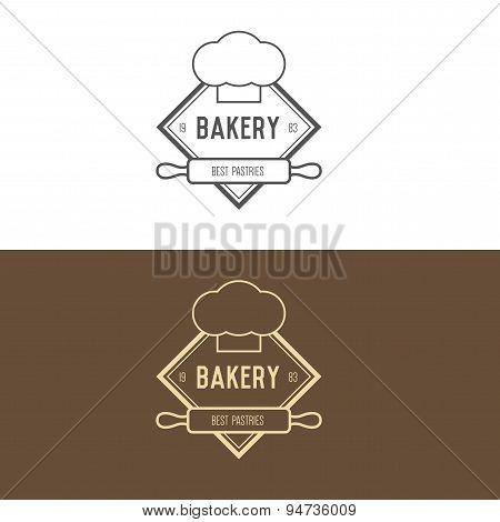 Logo inspiration for restaurant or cafe. Vector Illustration, graphic elements editable for design.