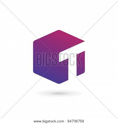 Letter T Cube Logo Icon Design Template Elements