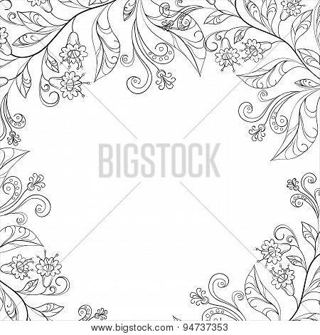 Background, flowers, contours