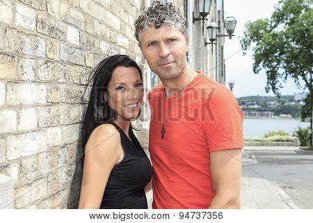 Urban modern young couple