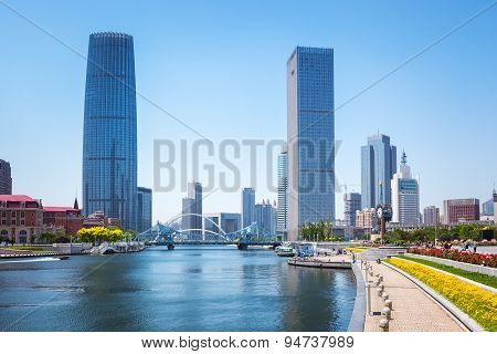 Tianjin Against A Sunny Sky