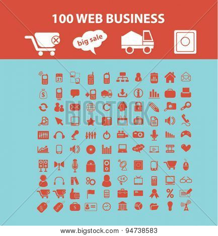 web, business icons, illustrations