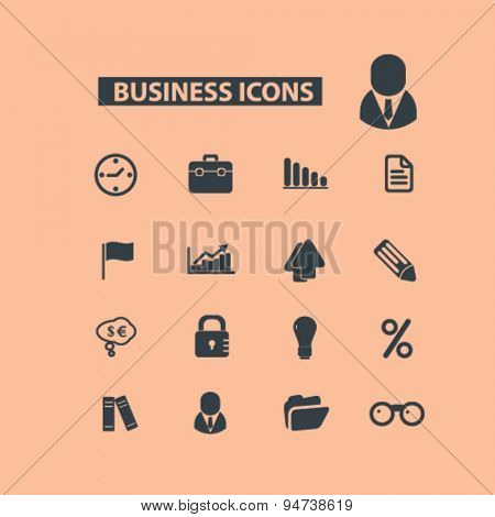 business icons, illustrations