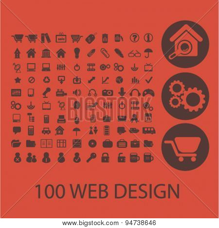 web design icons, illustrations