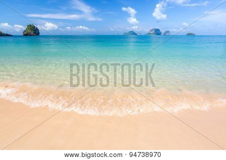 White sand beach and tropical sea