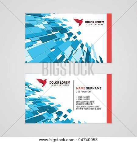 Vector creative business card template with abstract background