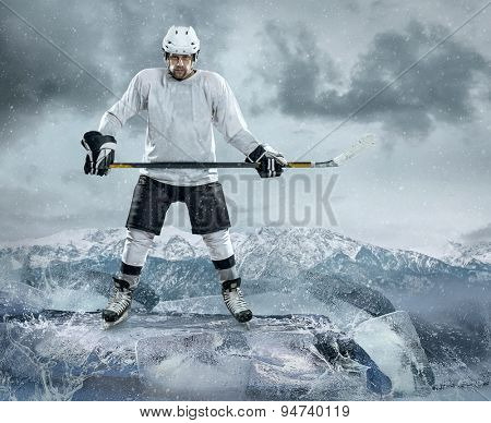 Ice hockey player on the ice