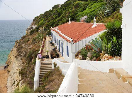 Architectural detail in Benagil, Algarve, Portugal