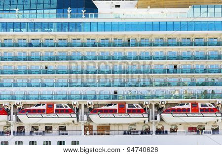 Cruise ship cabins background