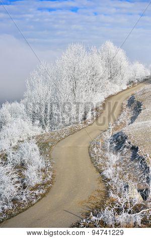 beautiful winter mountain landscape in Romania