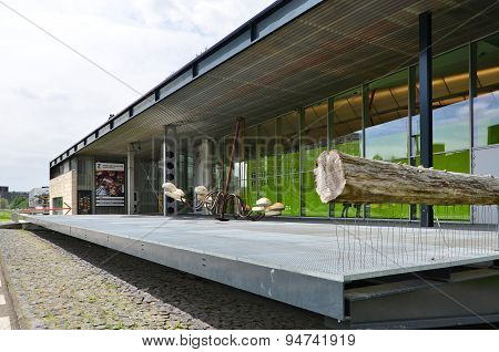 Rotterdam, Netherlands - May 9, 2015: The Kunsthal Museum In Museumpark, Rotterdam