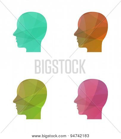 human head multicolored concept