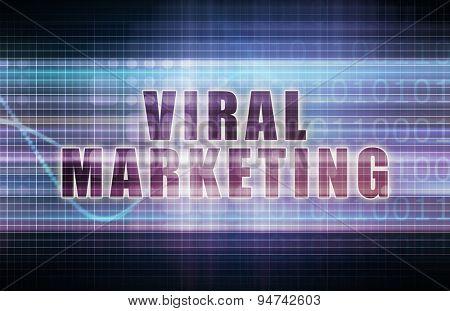 Viral Marketing on a Tech Business Chart Art