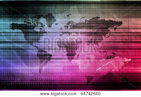 Global Information Technology Startup as a Image background