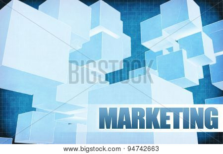 Marketing on Futuristic Abstract for Presentation Slide