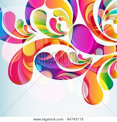 Abstract bright colorful arc-drop background.