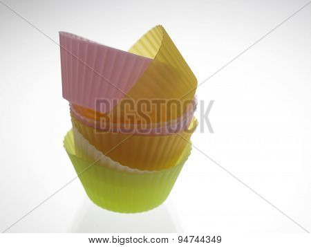 stack of the colorful cup cake wrapper