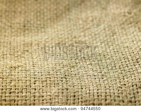 close up the texture of sack cloth