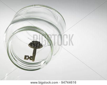 key in the empty jar