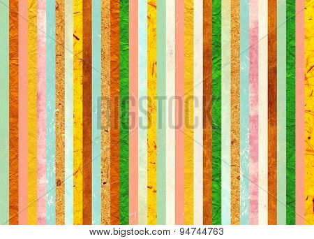 Background with paper patterns of different colors