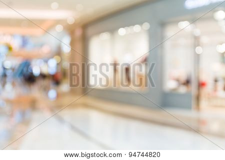 Blurred shopping center background