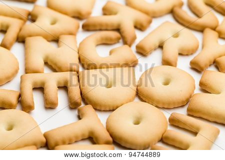 Stack of word biscuit