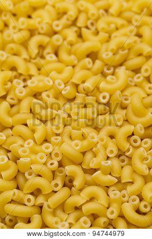 Uncooked Italian Macaroni Pasta