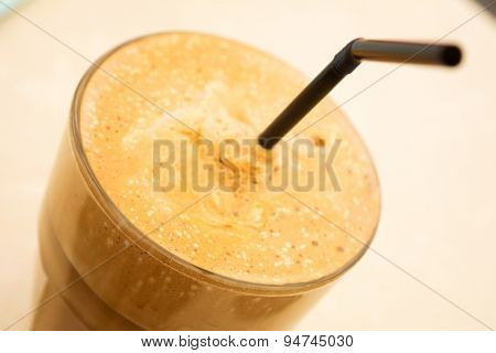 Close-up shot of a Greek frappe