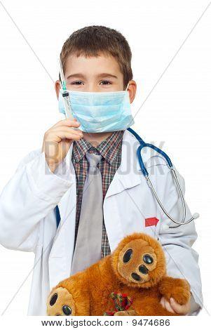 Little Boy Plays Doctor