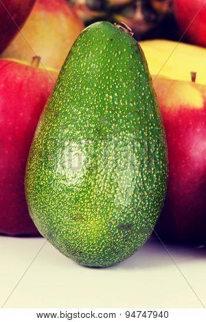 Fresh healthy juicy green avocado