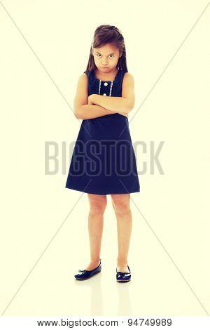 Cute little girl feeling upset