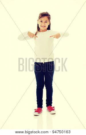 Cute pretty little girl posing