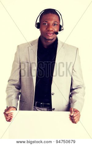 Handsome black man as a consultant