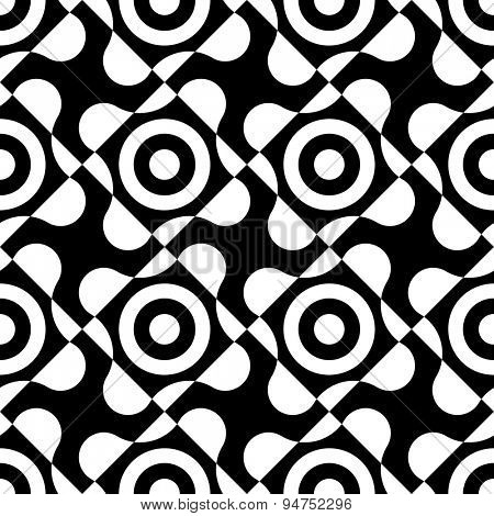Seamless Geometric Pattern. Vector Monochrome Texture
