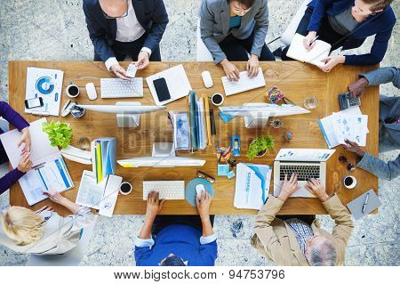 Business People Technology Working Office Concept