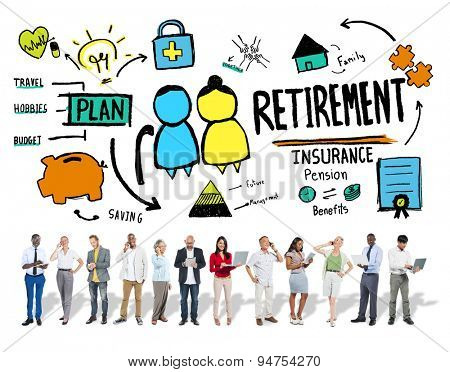 Diversity Casual People Retirement Career Digital Communication Concept