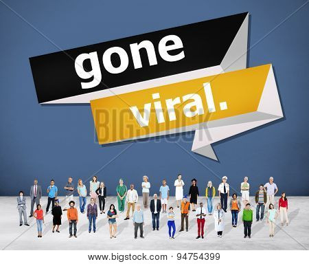 Gone Vial Popular Social Media Networking Concept